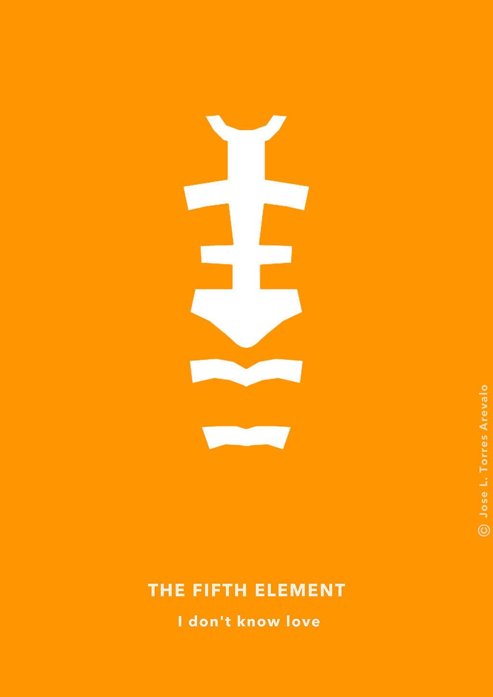 diseno-grafico-poster-minimalista-el-quinto-elemento